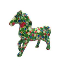 Pomme Pidou Spaarpot Paard Lucky  Groen met Cirkel