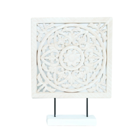 Decoratie wit hout 30 cm