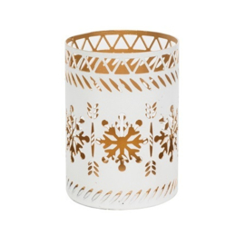 White Snowflake Petite Candle Holder
