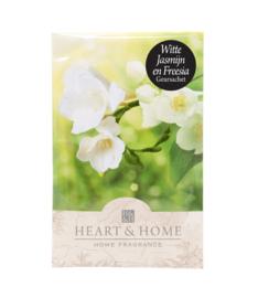 Witte Jasmijn & Freesia Heart & Home Geurzakje