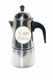 Koffie Percolator  Happy Birtday