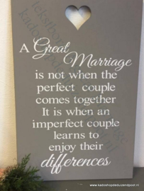 A Great Marriage ...Tekstbord