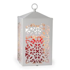 Candle Warmer White Scroll Lantern