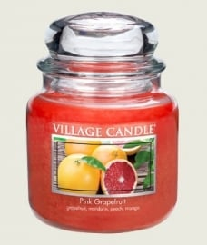 Pink Grapefruit Village Candle  Medium 105 Branduren