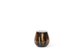 Thick votives with dark bark designs 15x14
