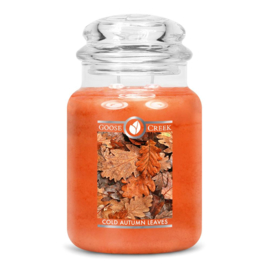 Cold Autumn Leaves  Goose Creek  Candle Large Jar 150 Geururen