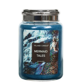 Mermaid Tales Fantasy Village Candle 170 Branduren