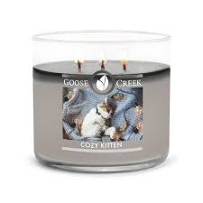 Cozy Kitten Goose Creek Candle  Soy Blend   3 Wick Tumbler