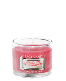 Village Candle  Cherry Vanilla Swirl Mini Glass Votive