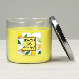 Goose Creek Candle Lemon & Olive Leaf Elixter Candle 3 Wick Tumbler