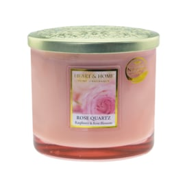 Rose Quartz Heart & Home Ellips 2 wick Candle 230 gram