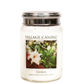Gardenia  Village Candle   Large Jar 170 Branduren