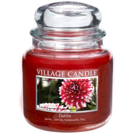 Dahlia Village Candle  Medium  105 Branduren