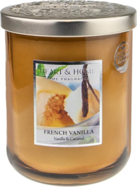 French Vanilla geurkaars Heart & Home 340 gram