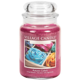 Autumn Colors Village Candle   Large Jar 170 Branduren