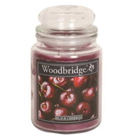 Black Cherries Woodbridge Apothecary Scented Jar  130 geururen