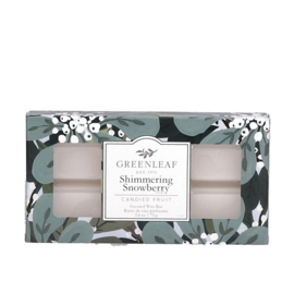 Greenleaf Shimmering Snowberry Wax Melt - Waxbar