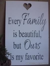 Family tekstbord
