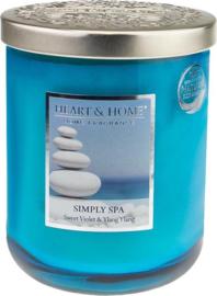 Simply Spa geurkaars Heart & Home 340 gram
