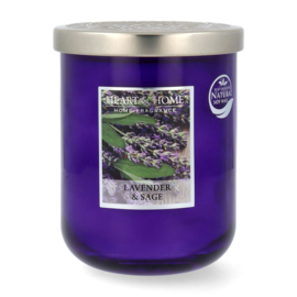 Lavender & Sage  Heart & Home Large Jar 340 gram