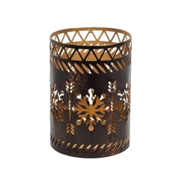 Bronze Snowflake Petite Candle Holder
