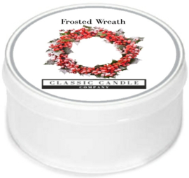 Frosted Wreath  Classic Candle MiniLight