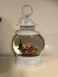 Kerst Led Water Spinner Lantaarn Ovaal 25 cm  Kerst Decor