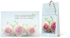 Een dikke knuffel omdat jij het verdient Geurtasje - Wenskaart Incl envelop  12,5 x 8 cm