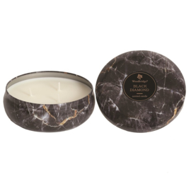 Black Diamont  Woodbridge  Marble Effect Tinned Candle
