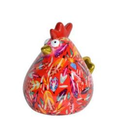 Pomme Pidou Spaarpot Kip Matilda  Rood Veertjes