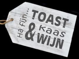 Tekstbord - Serveerplank Ha fijn kaas...
