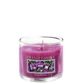 Violet Blossom   Village Candle  Mini Glass Votive