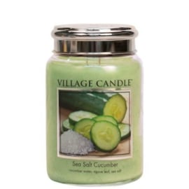 Sea salt Cucumber Village Candle  Large Jar 170 Branduren