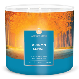 Autumn Sunset Goose Creek Candle  Soy Blend  3 Wick Tumbler