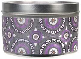 Greenleaf Vintage Violet  Candle Tin 40 Branduren