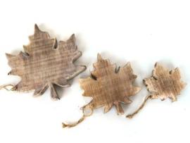 Hanger blad  10 cm naturel