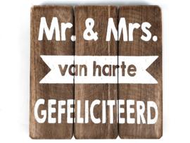 Tekstbord  'Mr. & Mrs. natural