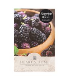 Zongerijpte Bramen Heart & Home Geurzakje