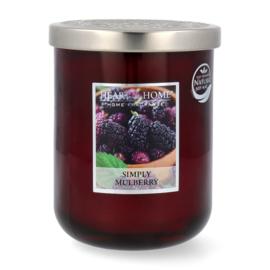Simply Mulberry geurkaars Heart & Home 340 gram
