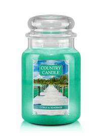 Citrus & Seagrass Country Candle Large Jar 150 Branduren