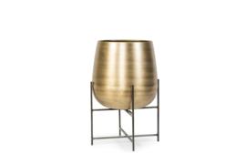 Planter brass antique pot & stand black. 43x 66
