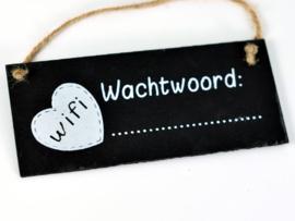 Wifi wachtwoord krijtbordje