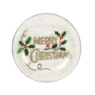 Merry Christmas Candleplate 16cm