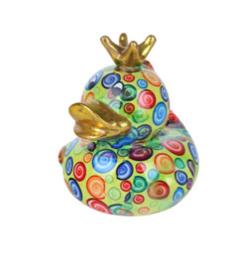 Pomme Pidou Spaarpot King Ducky  Groen met Cirkels