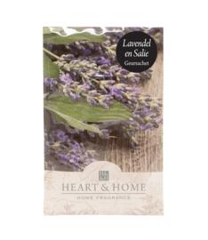 Lavendel en Salie Heart & Home Geurzakje