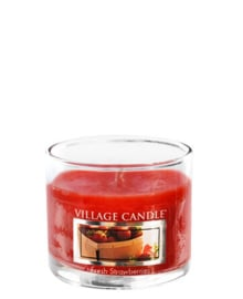 Village Candle  Fresh Strawberries Mini Glass Votive