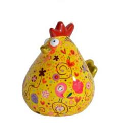 Pomme Pidou Spaarpot Kip Matilda  Geel Figuurtjes