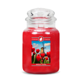 Breezy Tulips Goose Creek Geurkaars 150 Branduren