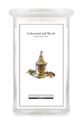 Cedarwood And Myrrh Classic Candle Large 2 wick