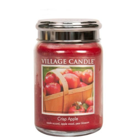 Crisp Apple  Village Candle Large Jar 170 Branduren